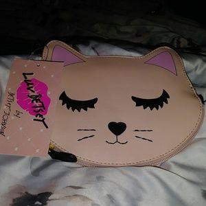 BRAND NEW 💋 blush kitty coin purse (wristlet)